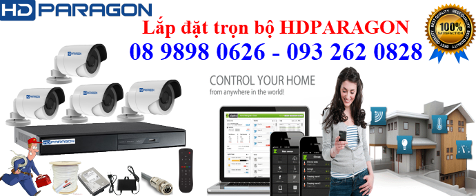 TRỌN BỘ 4 CAMERA HDPARAGON 1.0MP