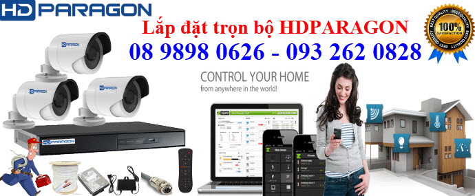 TRỌN BỘ 3 CAMERA HDPARAGON 1.0MP
