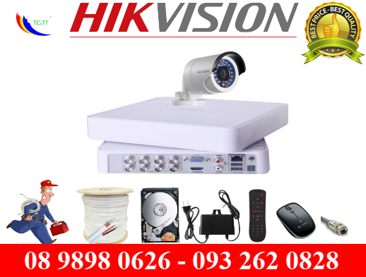 Trọn bộ 1 camera Hikvision 1.0 MP HD