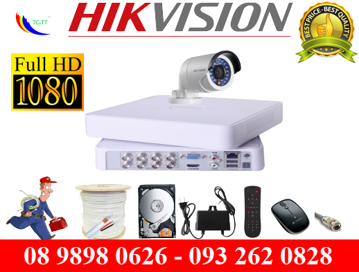 TRỌN BỘ 1 CAMERA HIKVISION FULL HD 2.0MP